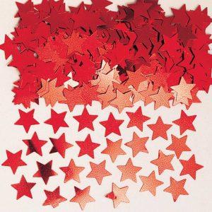 Stardust Red Metallic Confetti