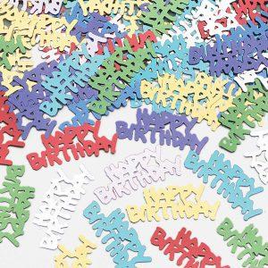 Happy Birthday Metallic Confetti