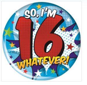 Simon Elvin Age 16 Badge