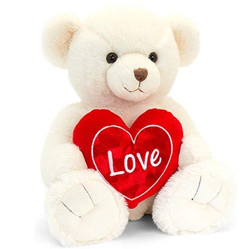 Keel Toys Cream Snuggles Bear