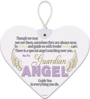 Heartfelt Ceramic Heart - Angel