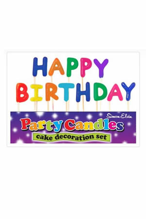 Happy Birthday Party Candles
