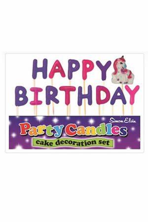 Happy Birthday Unicorn Party Candles