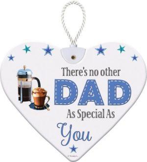 Heartfelt Ceramic Heart - Dad