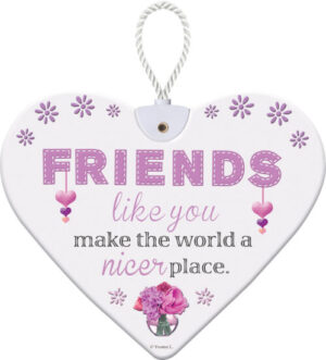 Heartfelt Ceramic Heart - Friends