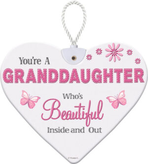 Heartfelt Ceramic Heart - Granddaughter