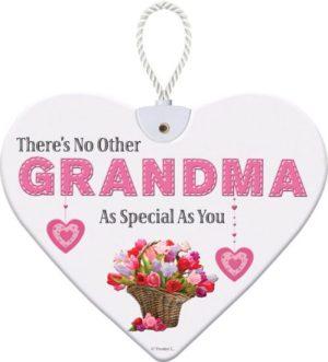 Heartfelt Ceramic Heart - Grandma