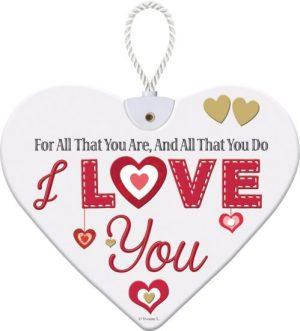 Heartfelt Ceramic Heart - I Love You