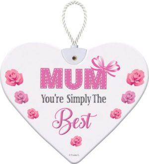 Heartfelt Ceramic Heart - Mum