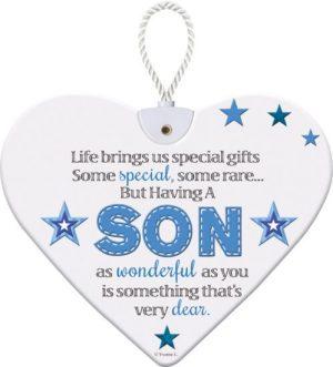 Heartfelt Ceramic Heart - Son