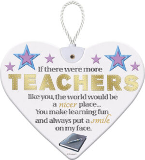 Heartfelt Ceramic Heart - Teacher