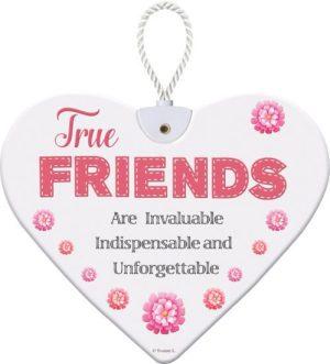 Heartfelt Ceramic Heart - True Friends
