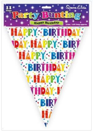 Simon Elvin Happy Birthday Large Bunting