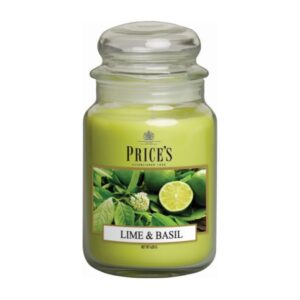 Price's Candles Lime and Basil Large Jar