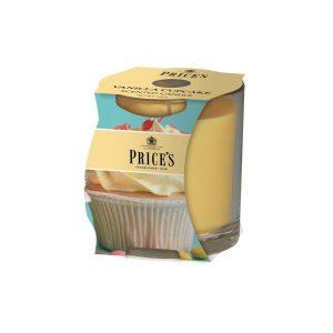 Price Candles Vanilla Cupcake Cluster Jar