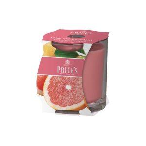 Prices Candles Pink Grapefruit Cluster Jar