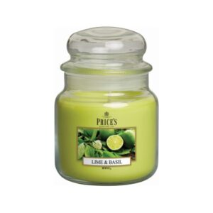 Prices Candles Lime and Basil Medium Jar