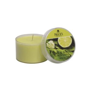 Prices Candles Lime and Basil Tin