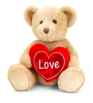 Keel Toys Brown Chester Bear with Heart (30cm)