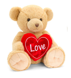 Keel Toys Brown Snuggles Bear with Heart (45cm)