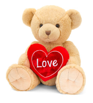 Keel Toys Brown Snuggles Bear with Heart (55cm)