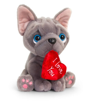 Keel Toys Frenchie with Heart