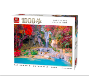 Kings Landscape Collection Tat Kuang Si Waterfalls Laos Puzzle
