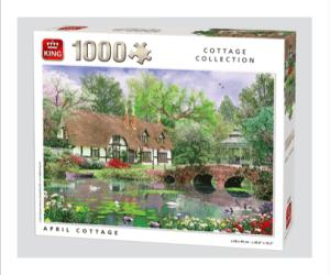 Kings Cottage Collection April Cottage Puzzle