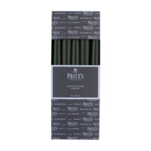 Prices Candles 10pk Venetians 10in Green