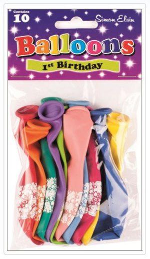 Simon Elvin 1st Birthday Balloons