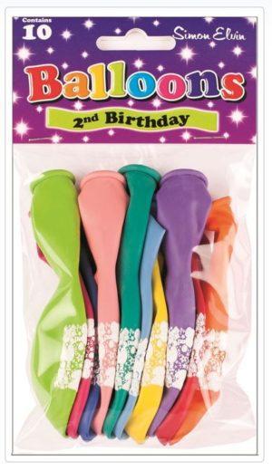 Simon Elvin 2nd Birthday Balloons