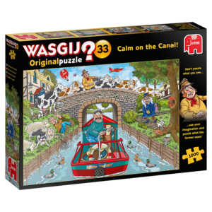Wasgij Original Puzzle - Calm on the Canal